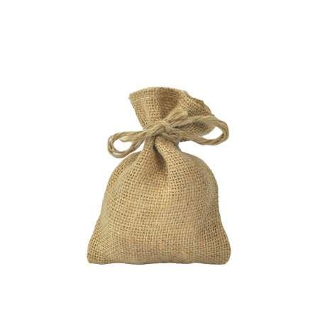 Jute zakken met rijgkoord 8 x 12 cm (per stuk)